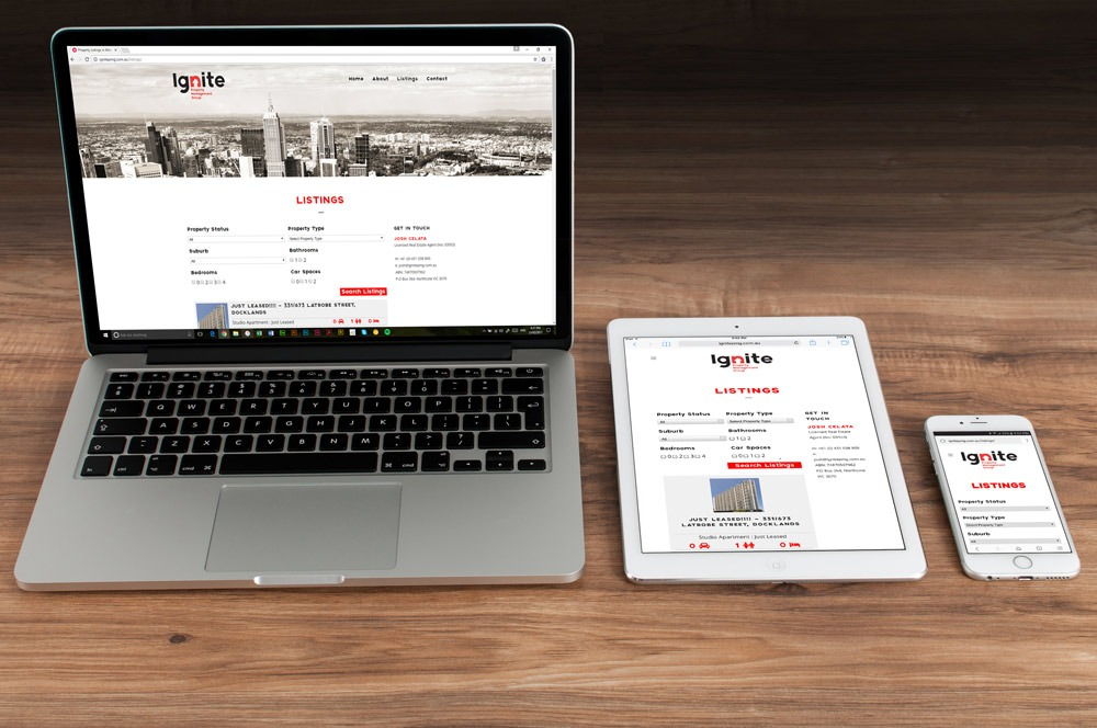 Ignite Property Management Group Website