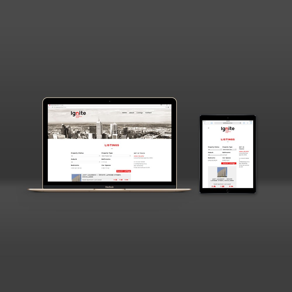 Responsive WordPress Website Development for Ignite Property Management Group