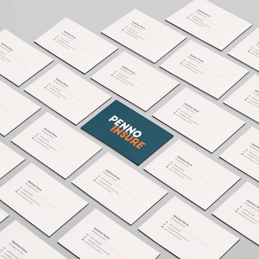 Business Card Design for Penno Insure