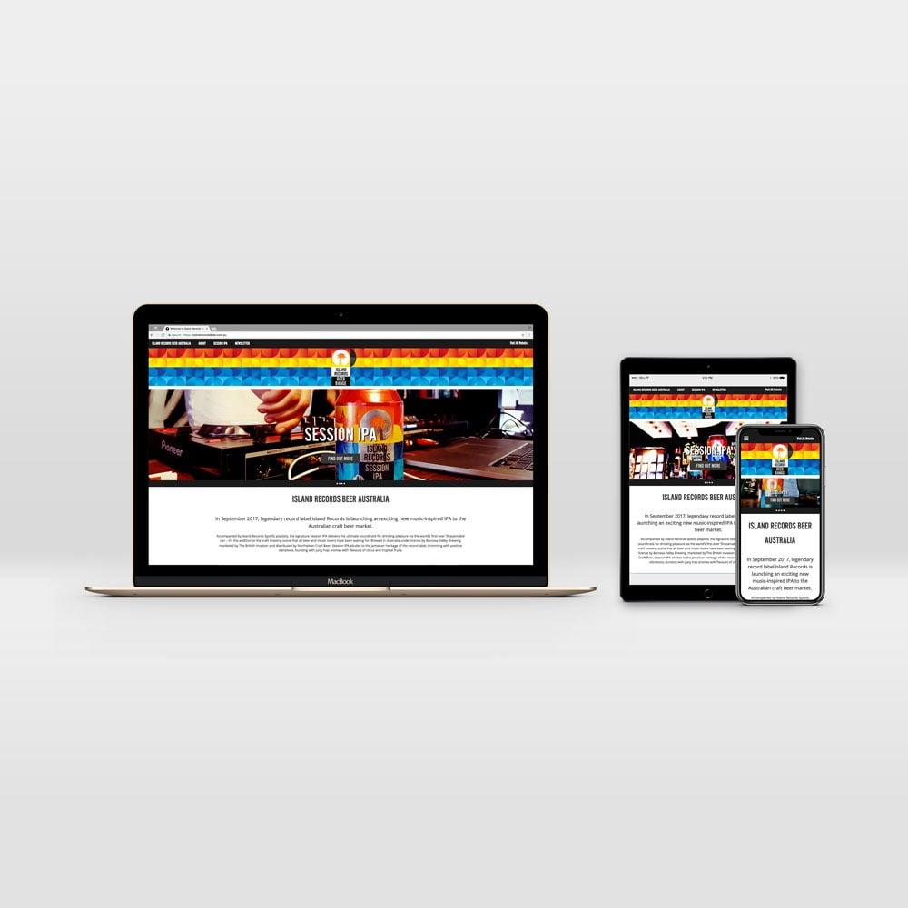 Responsive WordPress Website Development for Island Records Beer Australia