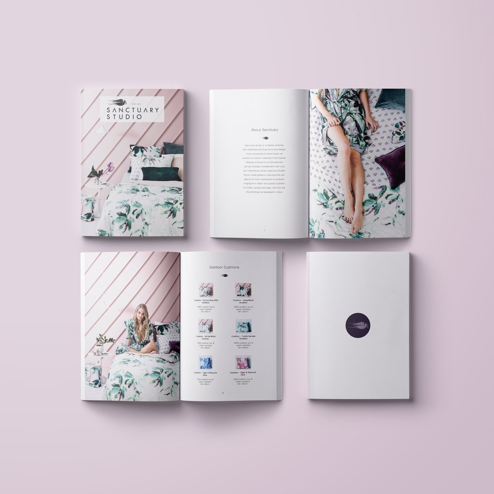 Product Catalogue Design for Sanctuary Studio