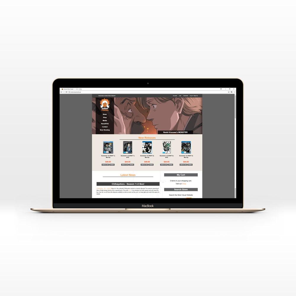 Magento eCommerce Website Development for Siren Visual